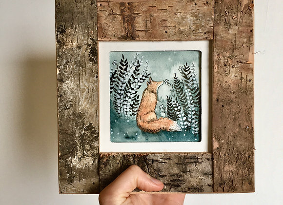 The Inhabitant - Original watercolour with Frame