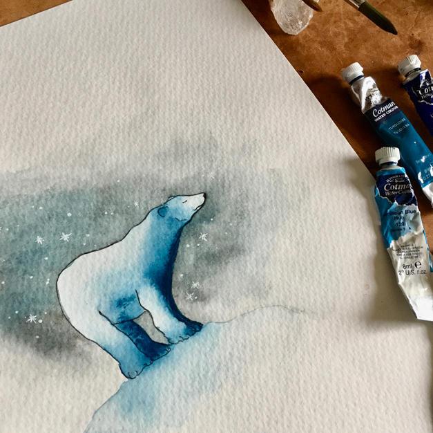 Oso polar soñador