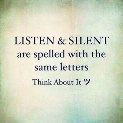 To Truly Understand - we must be quiet