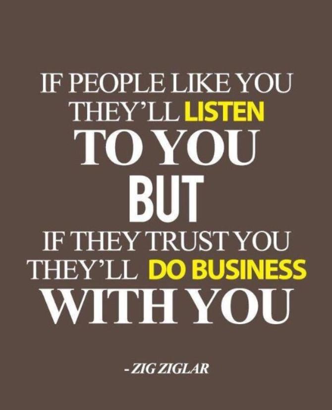 Be Trustworthy!!