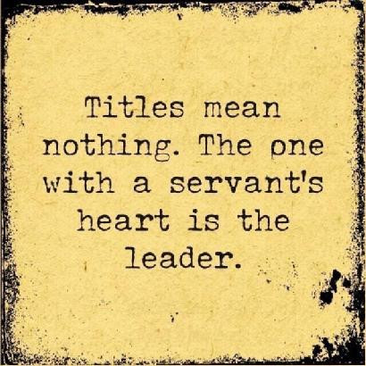 Leaders LEAD by Example