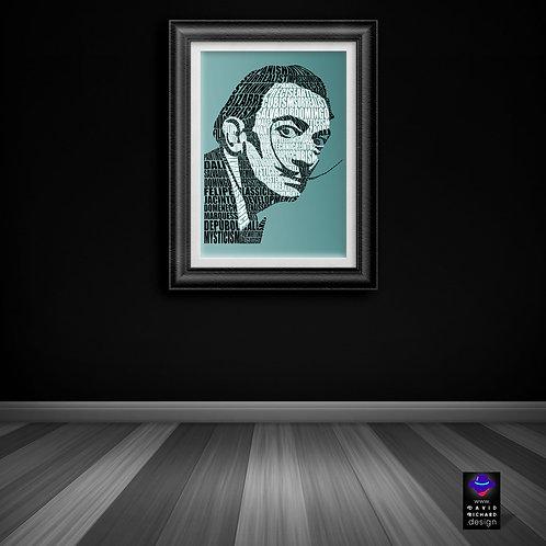 framed Salvador Dali  poster by David Richard designs.