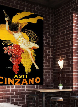 Vintage Asti Cinzano Ad for Italian Vermouth Poster