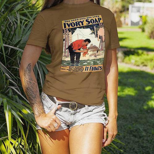 "cute girl wearing ""ivory soap"" t-shirt by David Richard."