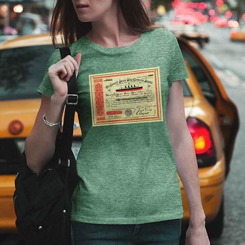 """cute girl wearing """"1909 stock"""" t-shirt by David Richard."""