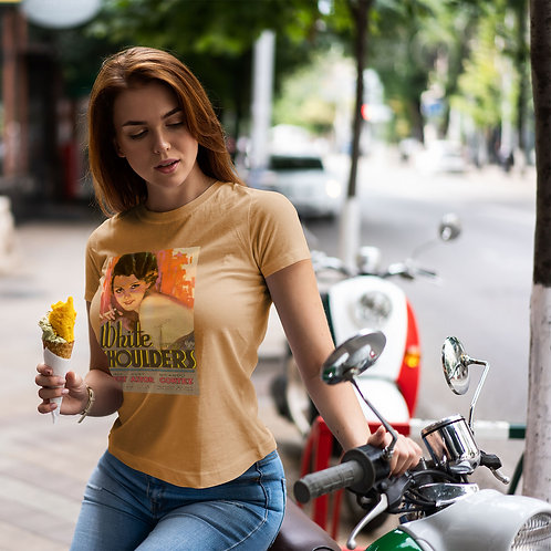 "cute girl wearing ""vintage movie"" t-shirt by David Richard."