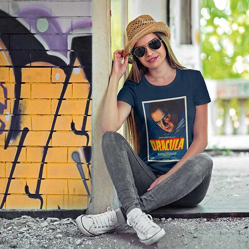 "cute blonde wearing ""Dracula"" t-shirt by David Richard."