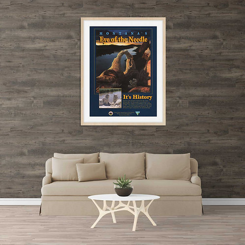 framed Montana poster by David Richard designs.