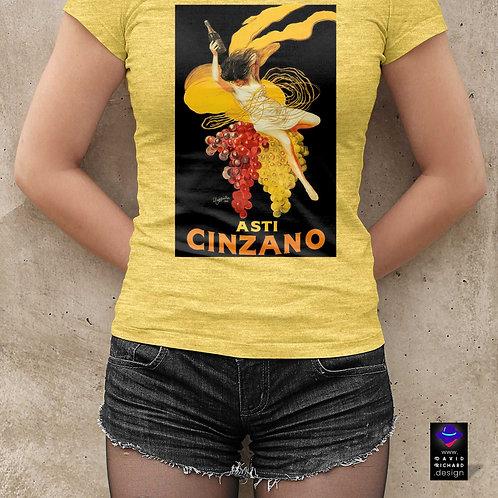 "cute girl wearing ""asti cinzano"" t-shirt by David Richard."