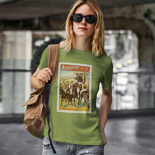 "cute blonde wearing ""sporting life"" t-shirt by David Richard."