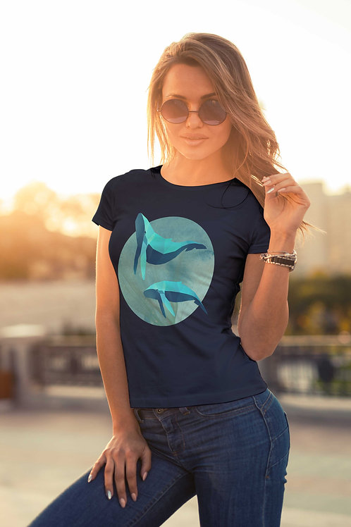 cute girl wearing whale tee shirt by David Richard.