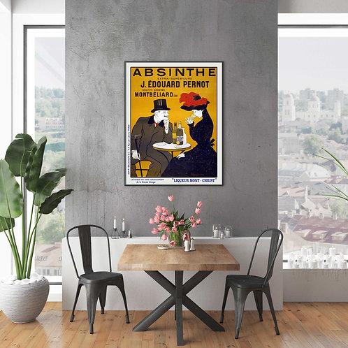 framed vintage French liqueur poster by David Richard designs.