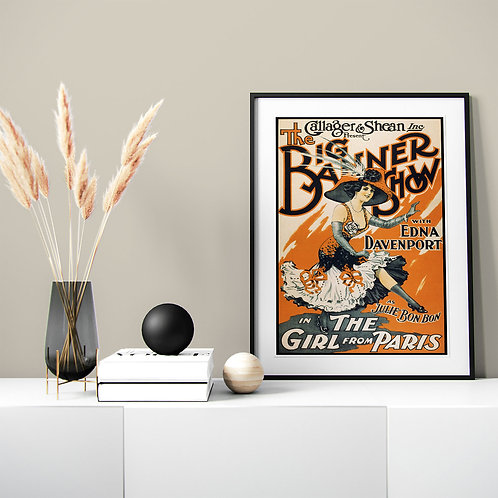 framed vintage theater poster by David Richard designs.