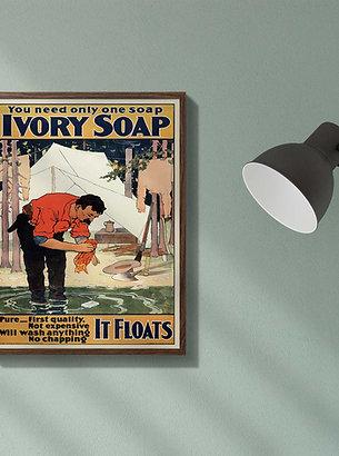 Vintage Ivory Soap Advertisement Poster