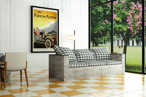 Pierce-Arrow Vintage Car Advertisement Poster