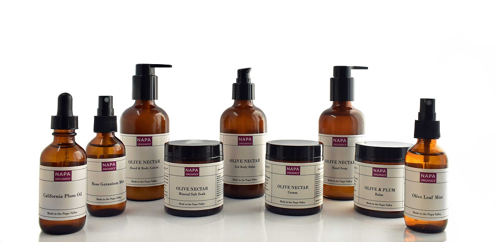 Handmade premium skincare made in the Napa Valley with organic California mission olive oil and plum oil