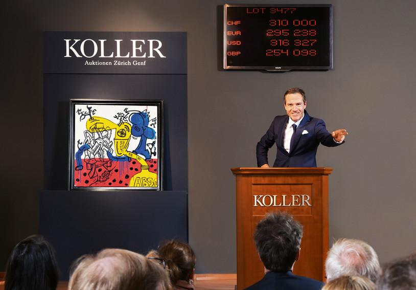 Auktionator Cyril Koller