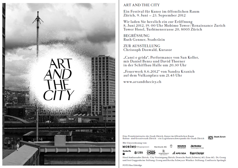ART AND THE CITY Sponsoring