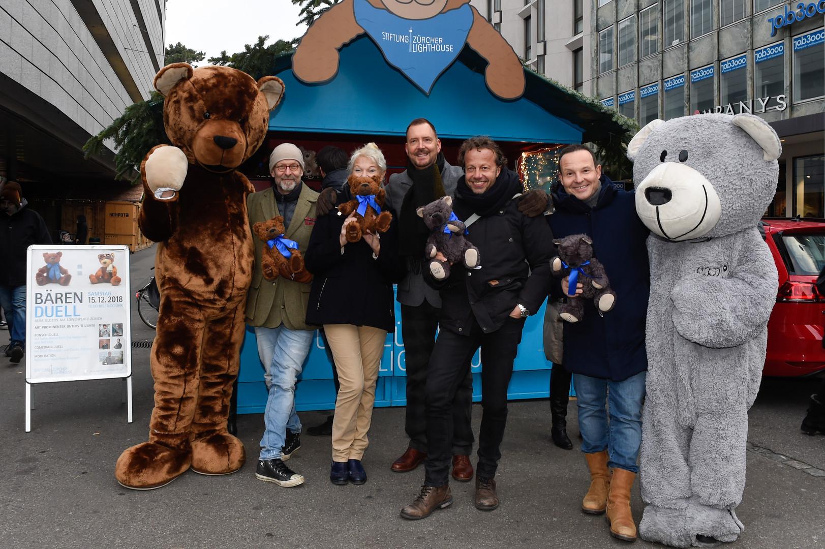 Bärenverkauf mit Erik Haemmerli, Birgit Steinegger, Rolf Hiltl und Claudio Zuccolini