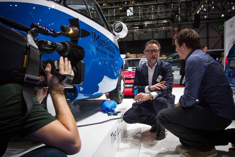 Wim Ouboter im Gespräch am Autosalon Genf