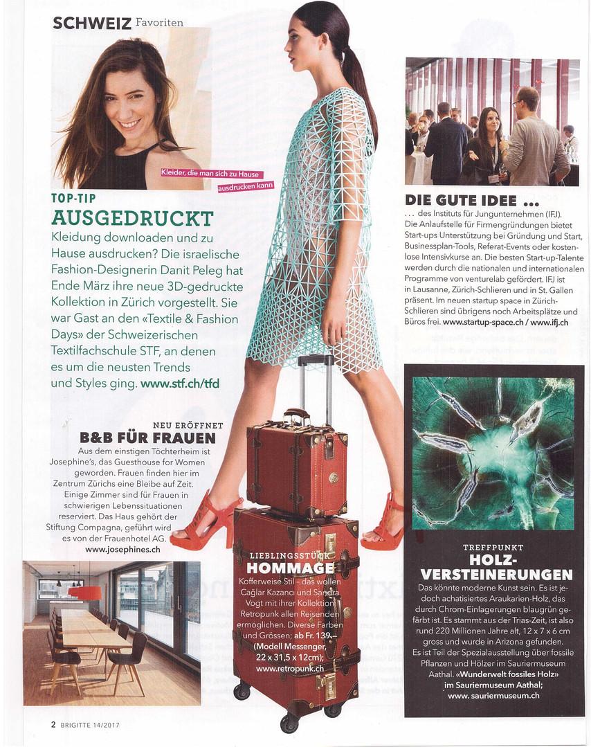 3D Fashion in der Brigitte Schweiz