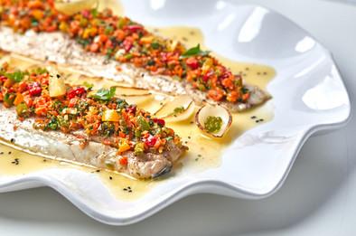 Fish fillet with pickled lemon