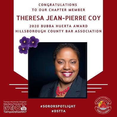 Theresa Jean-Pierre Coy - DSTTA Soror Sp