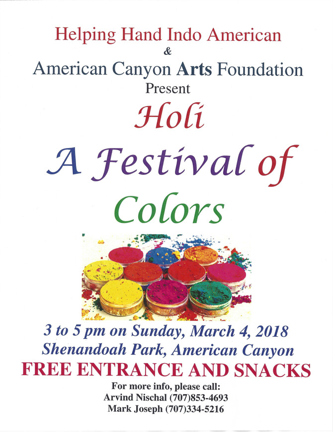 Join Us for Holi, Festival of Colors