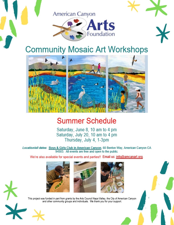 Community Mosaic Workshop Dates