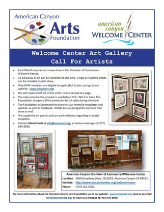 Guidelines for Showing at the Welcome Center Art Gallery