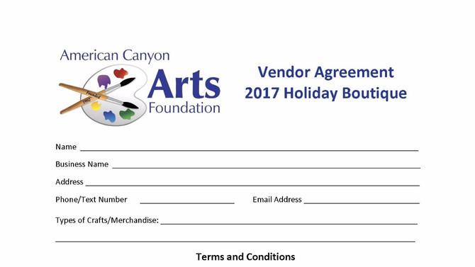 Vendor Agreement form