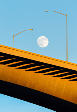 41--moonrise over Carquinez - Benicia, CA