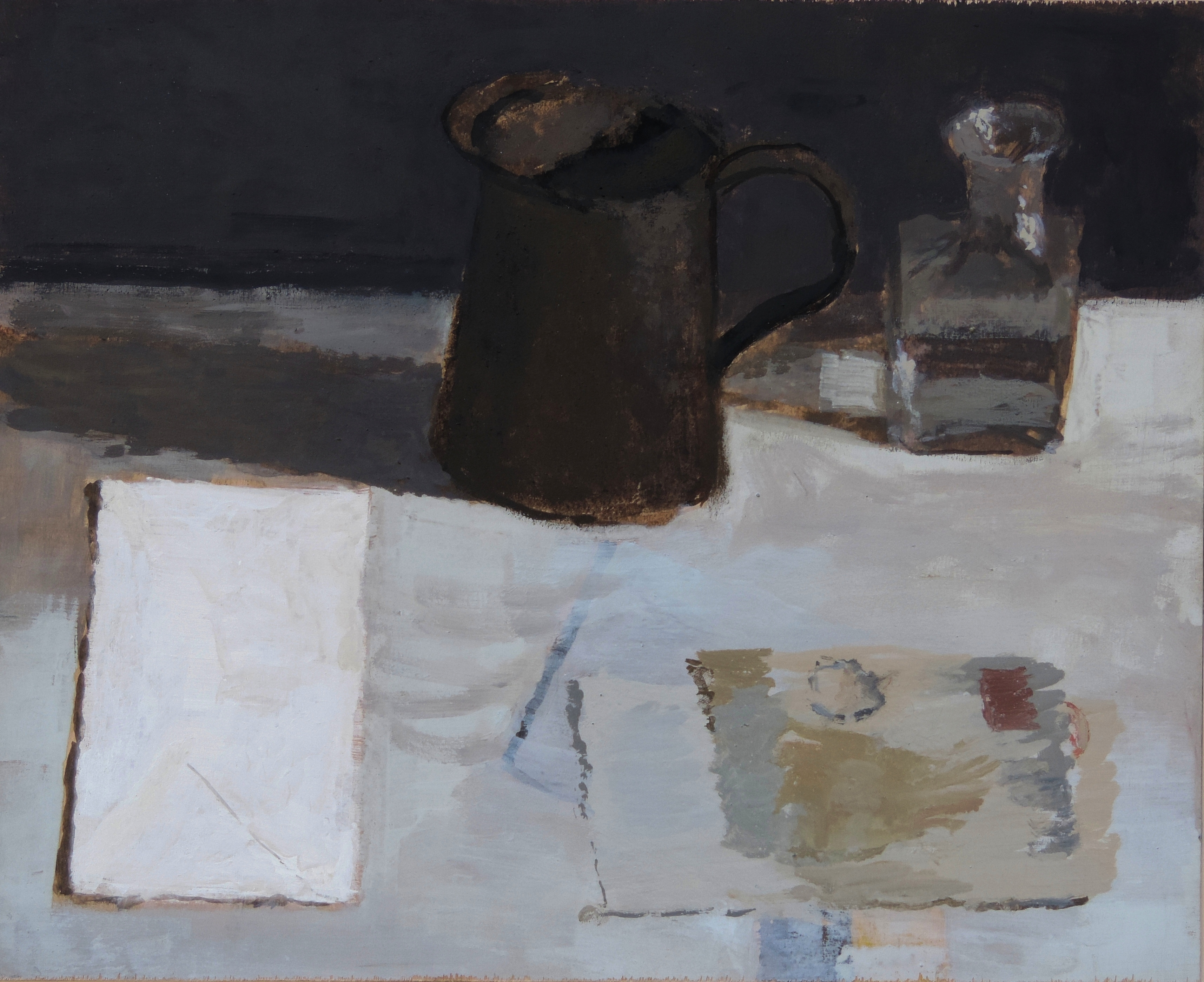 Still Life Brown Grey and Ochre