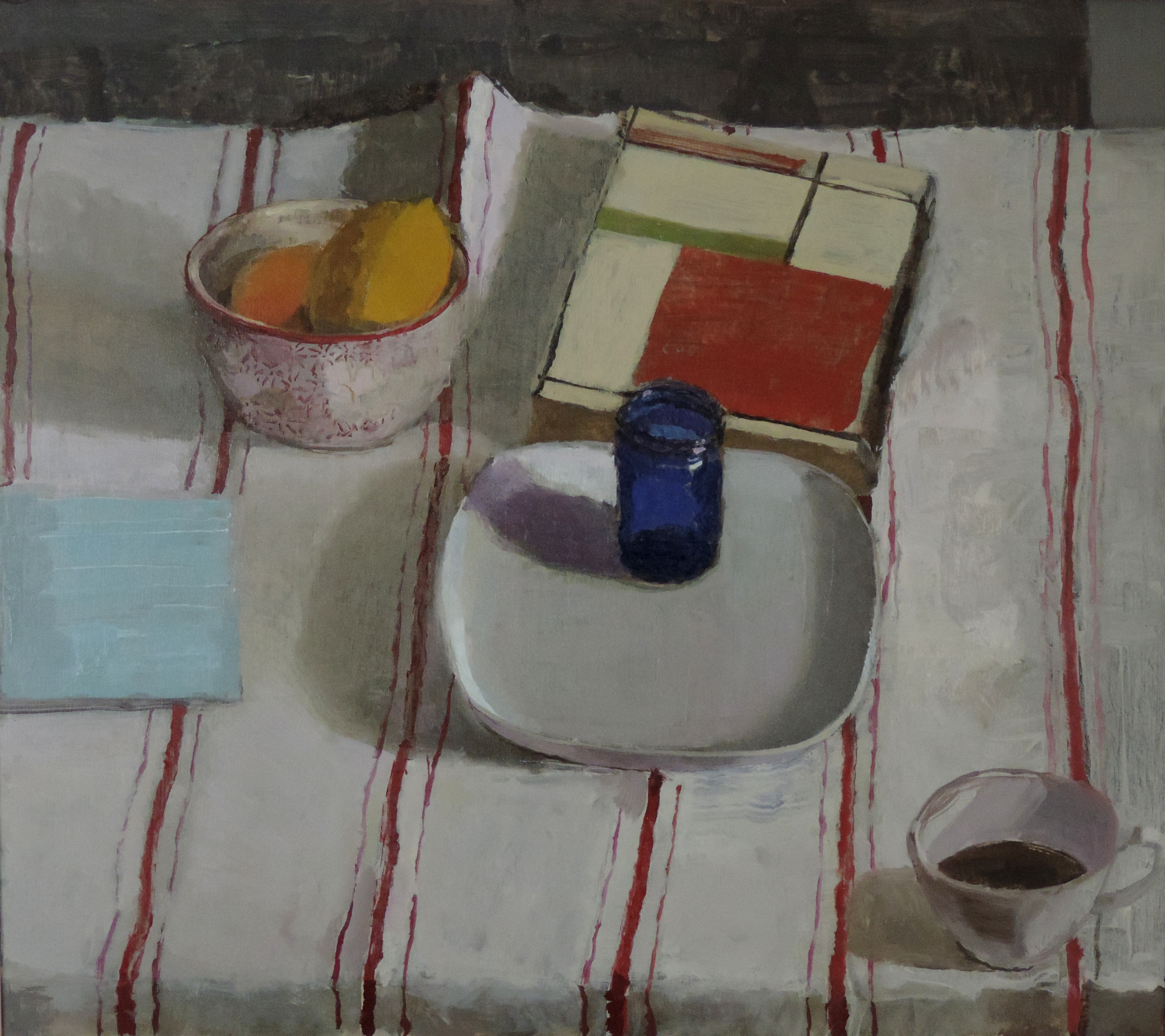 Still Life with Striped Cloth