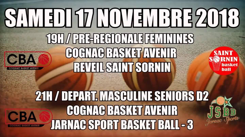 """Le 17 Novembre , c'est """"soirée Basket"""" avec le C.B.A."""