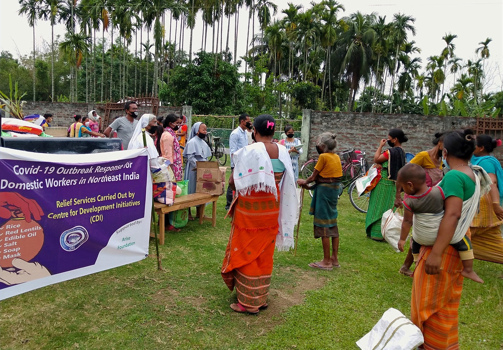 Covid-19 outbreak response for domestic workers, Northeast India, Sr Rose - Arise Foundation