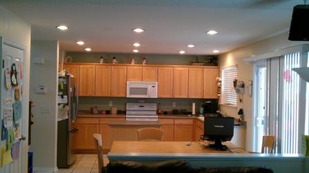 kitchen led lighting brushed nickel trim