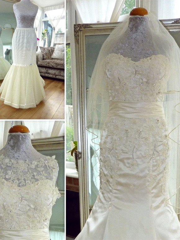 Accessories included with SK14 Peticoat hoop, Veil,  Detachable bodice Top