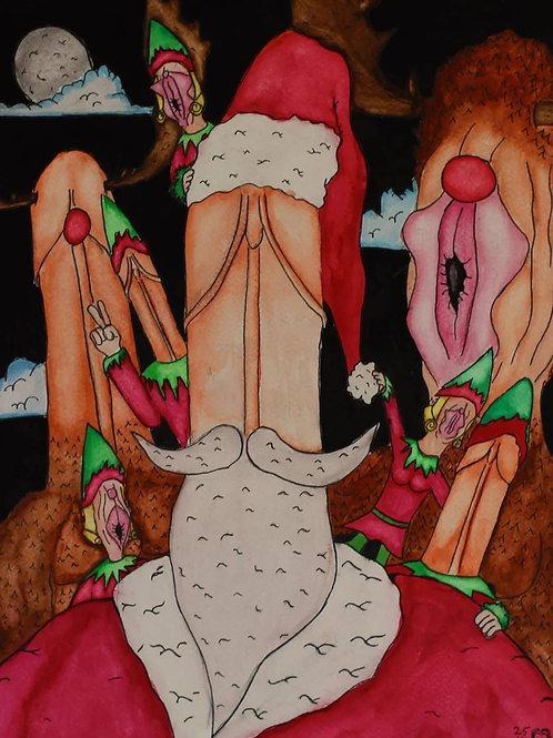 Naughty Santa and the Gangbang