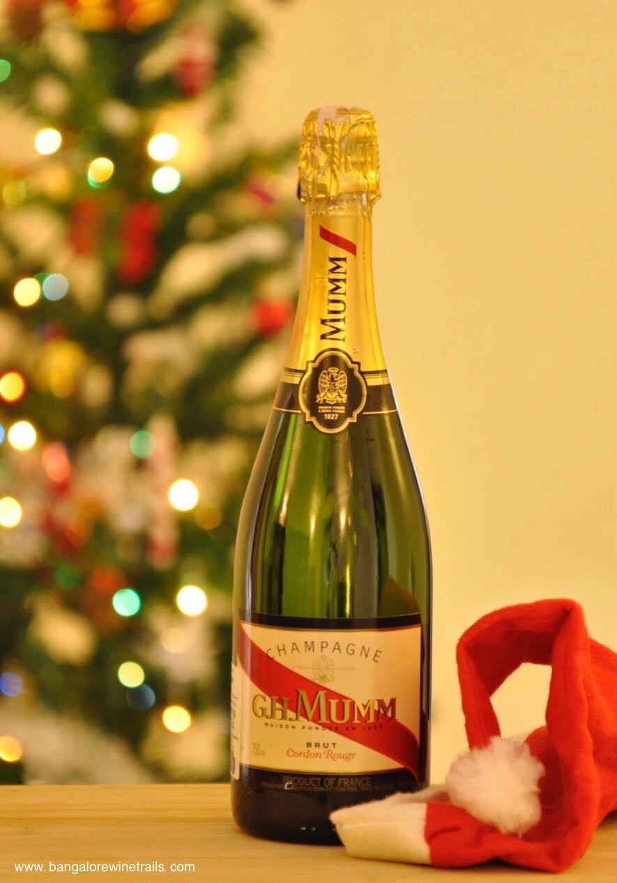 Celebrating Christmas with G.H. Mumm Champagne