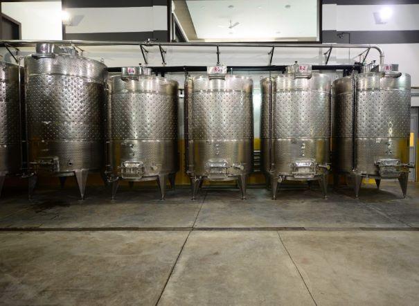 Tank hall at SDU Winery