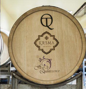 Barrel room at KRSMA Estates