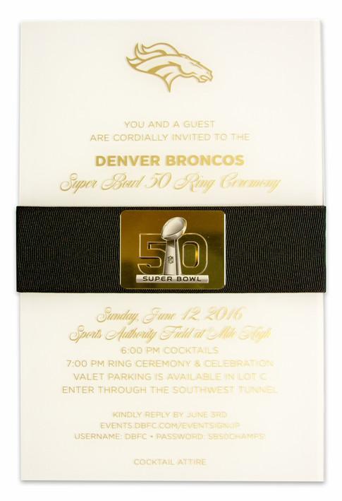 Denver Broncos Superbowl Invite
