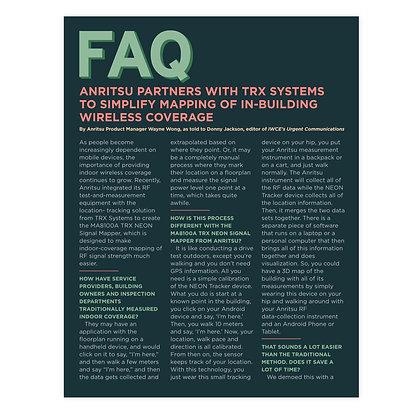 FAQ Magazine Layout