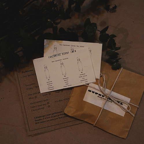Customize Scent Samples