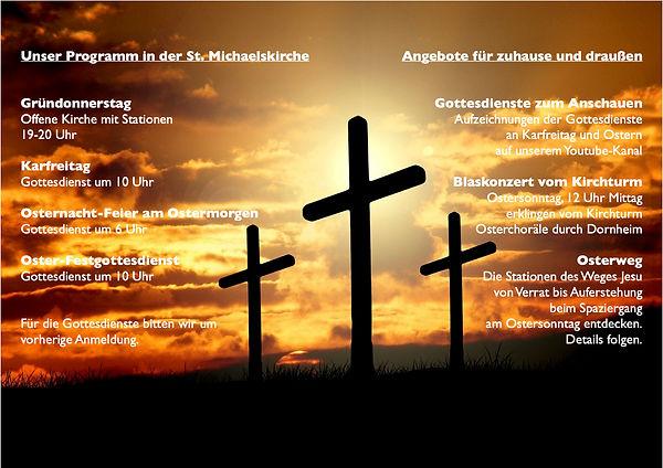 Werbung für Facebook Passion und Ostern