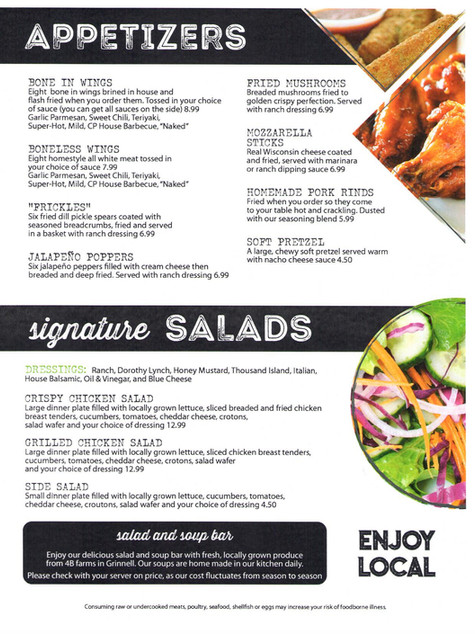 APPETIZERS/SALADS