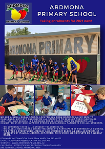 Ardmona Primary School Enrolment Advert.