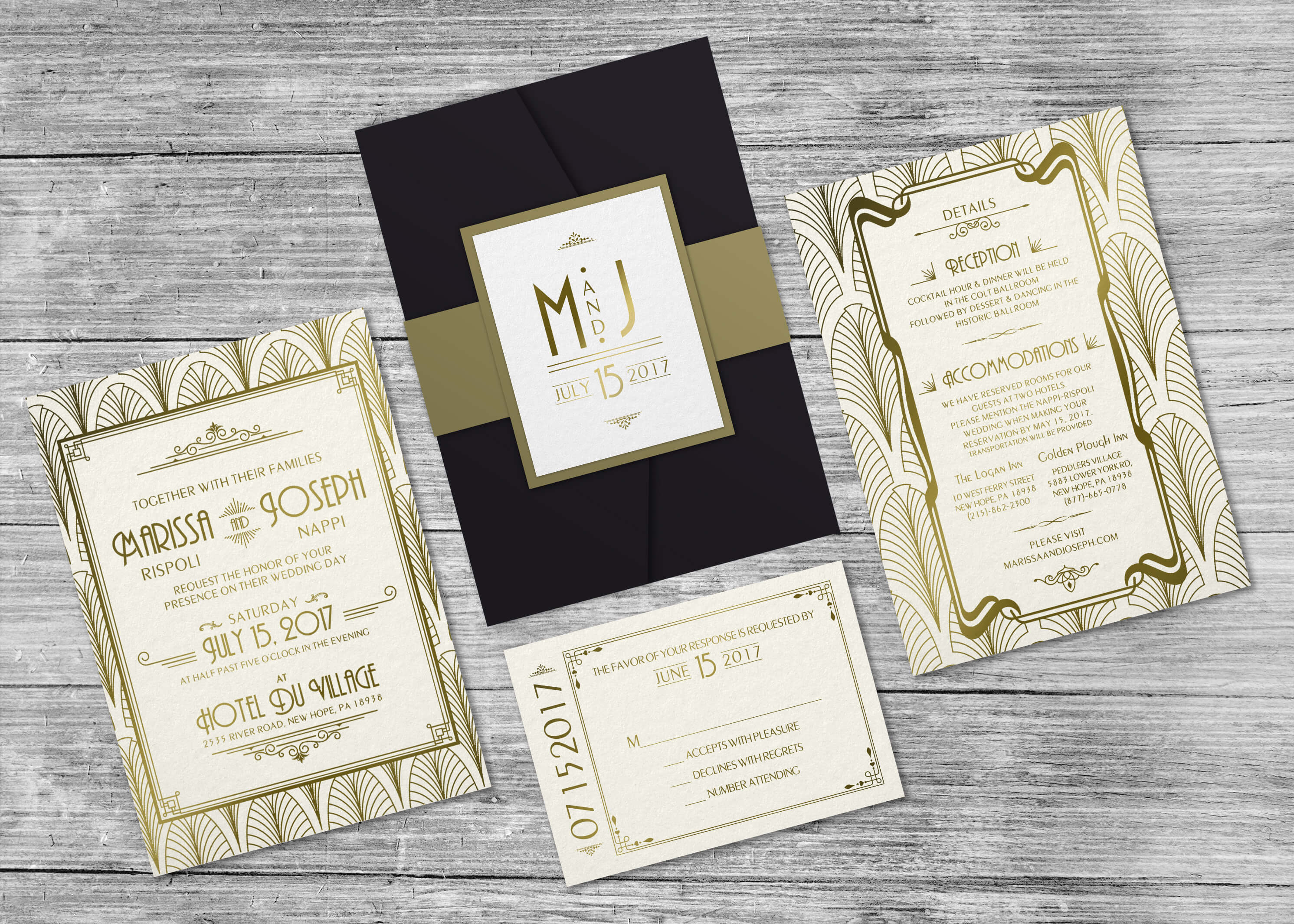 Art Deco Invitations - All