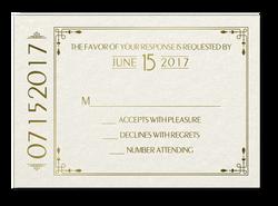 Art Deco Invitations - RSVP